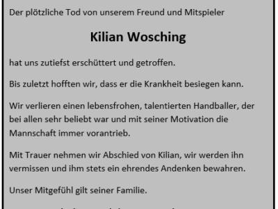 Nachruf Kilian Wosching